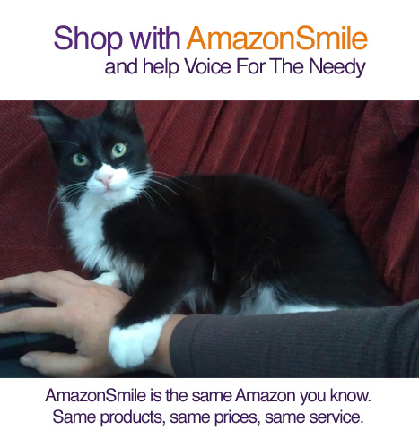 Shop at AmazonSmile and help Voice For The Needy Inc